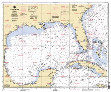 Chart of Gulf of Mexico
